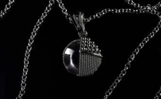Pendente-Shala-Argento-925-Rodiato-con-particolari-in-filigrana-e-granulazione---Shala